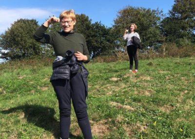 Malene og Nicole efter en lang gåtur