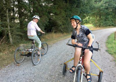 Sabrina og Mette mødtes på deres cykeltur